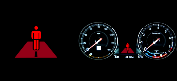 How to operate the BMW's Pedestrian Detection System