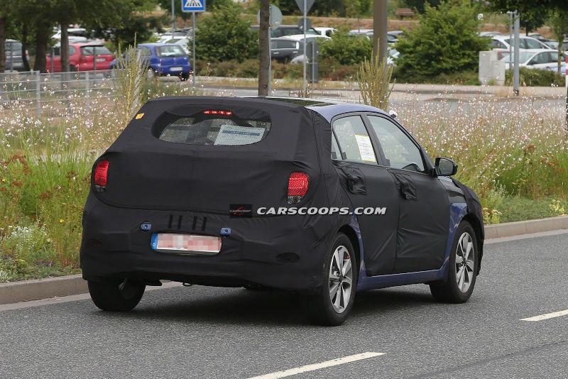 Hyundai i20 spied Back View