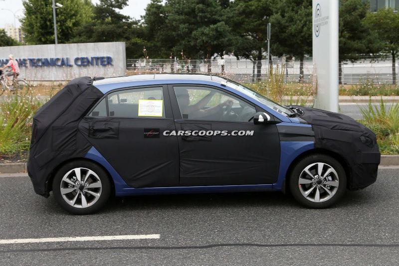Hyundai i20 spied New
