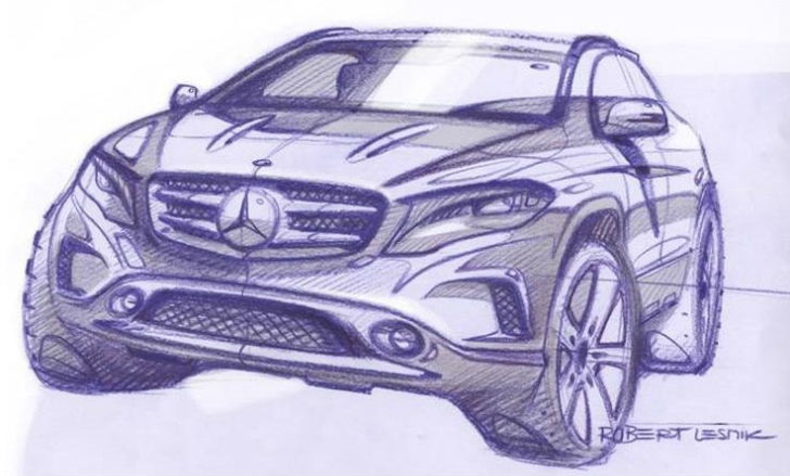 Mercedes-Benz teases 2014 GLA
