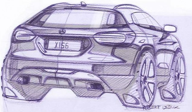 Mercedes-Benz teases 2014 GLA Back View