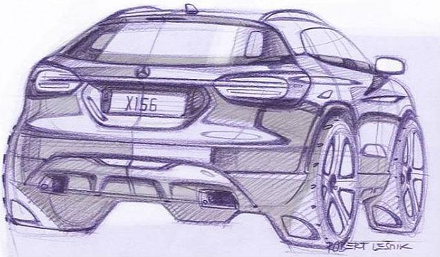 Mercedes-Benz teases 2014 GLA Back View