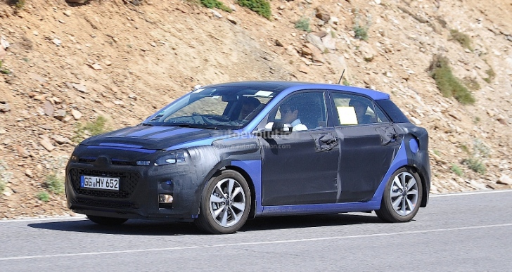 Next-gen Hyundai i20 spied one more time, bonnet losses camouflage