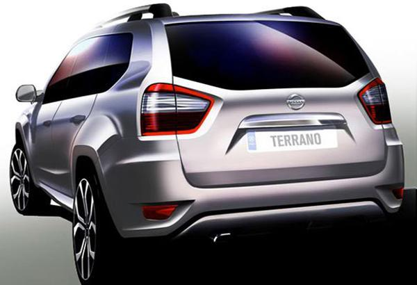 Nissan Terrano Back View