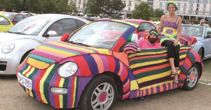 Owners Knit Their Beetle a Wool Sweater