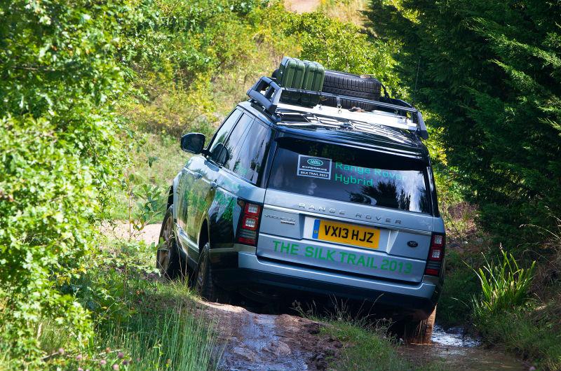 Range Rover Hybrid Back View