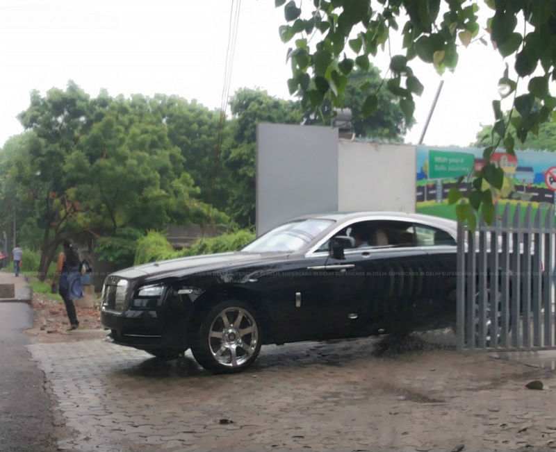 Rolls Royce Wraith spotted in India