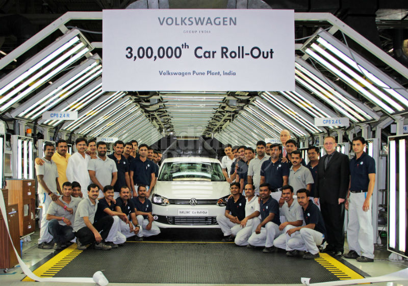 VW rolled out 3,00,000th vehicle from the Pune plant