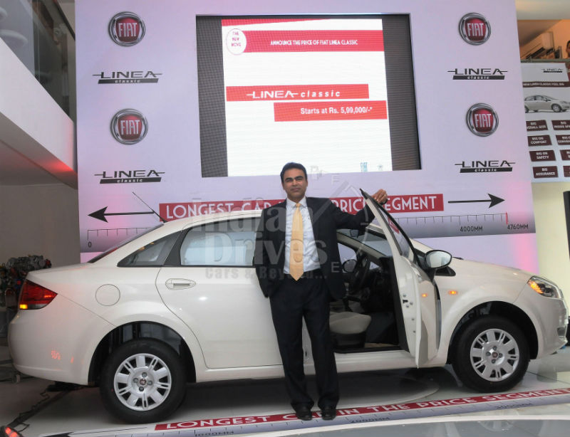 Fiat Linea Classic launched in India
