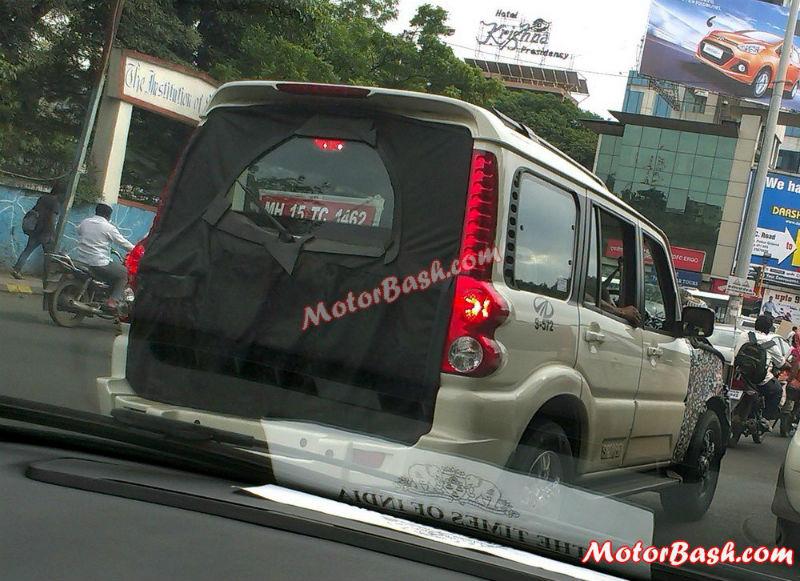 Mahindra Scorpio facelift Back View