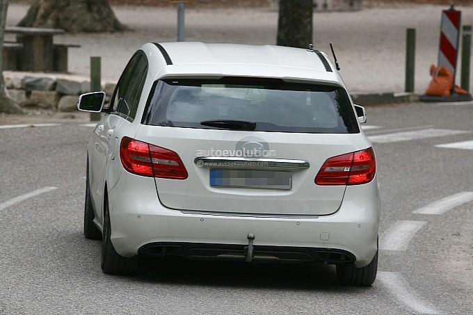Mercedes Benz B Class facelift Spy Shots Back View
