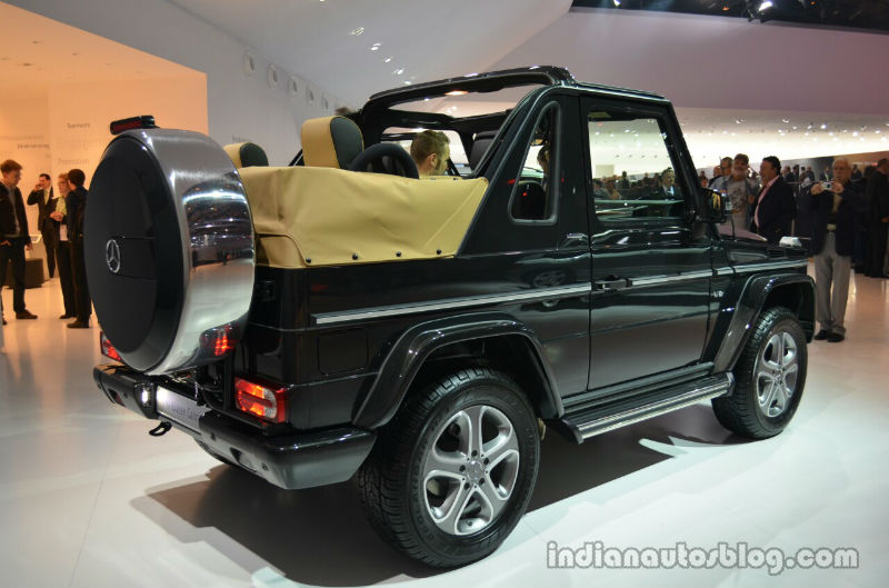 Mercedes G Class Cabriolet Final Edition Back View
