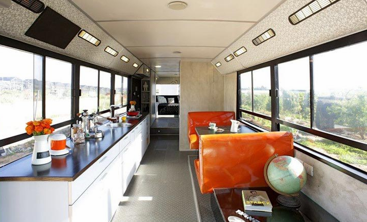 Old Public Bus is salvaged to create a new home
