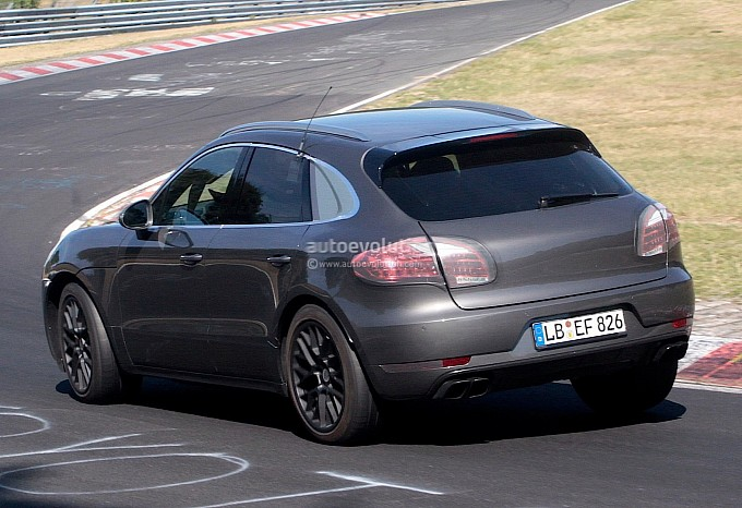 Porsche Macan Spy Shots Back View
