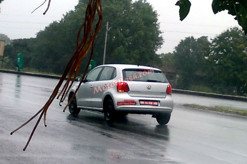 Spy shots of Left Hand Drive Polo and Vento Back View