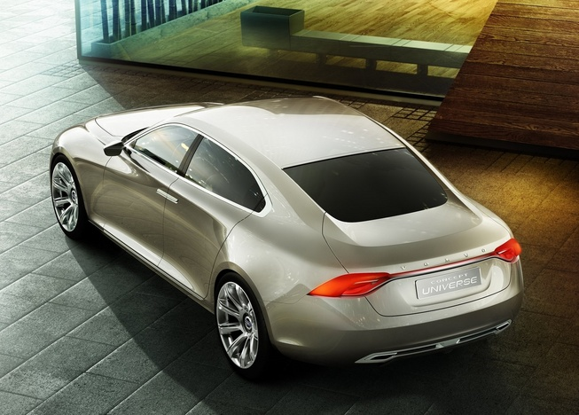 Upcoming Volvo flagship sedan S100 will rival S Class Back View
