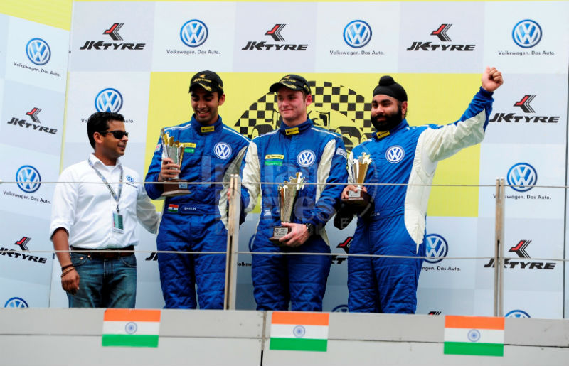 Winners of Race 1 of Round 3 of Polo R Cup 2013