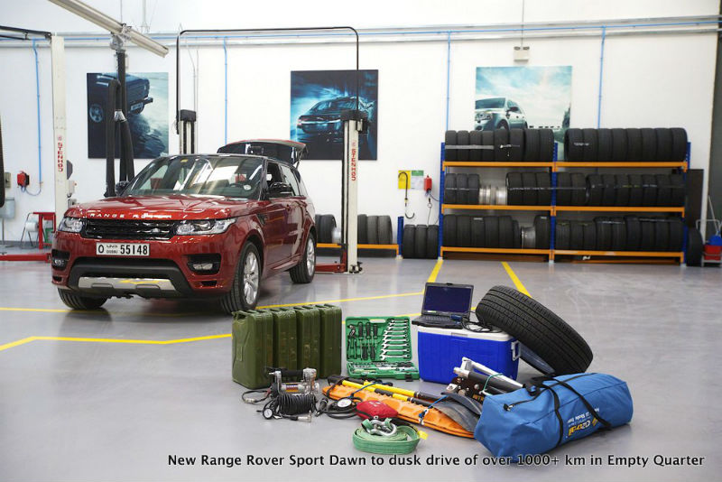New Range Rover Sport Dawn to dusk drive of over 1000 km in Empty Quarter