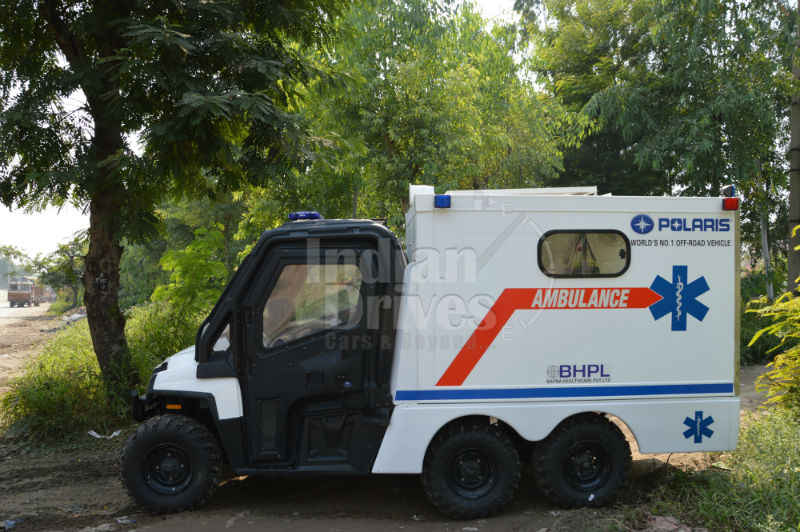 Polaris off road Ambulance for Indian Terrains