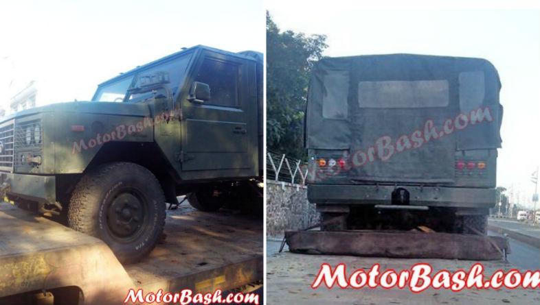 Tata Motors Hummer like military vehicle spied up close