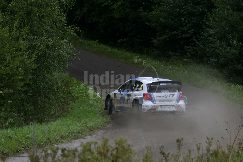 Volkswagen flat out at the WRC Back View