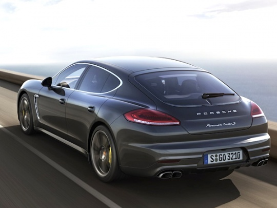 2014 Porsche Panamera Turbo S Back View