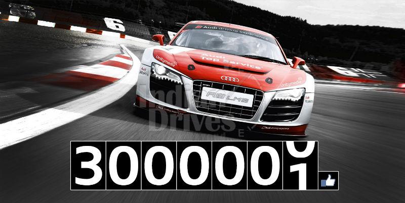 Audi breaks through three million fan mark on Facebook