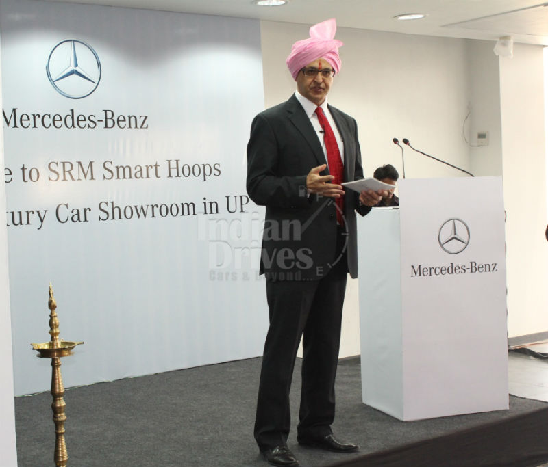 Eberhard Kern MD&CEO Mercedes-Benz India at the launch of Smart Hoops Dealer launch in Lucknow