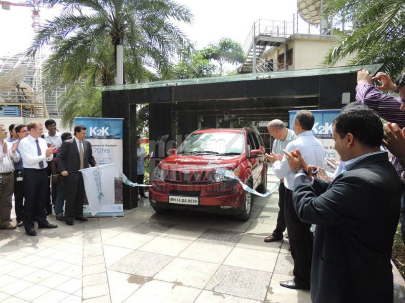 Mahindra XUV500 Sets World Record for Completing Journey from Kanyakumari to Kashmir in shortest time