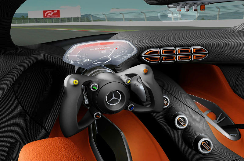 Mercedes Benz AMG Gran Tourismo interiors