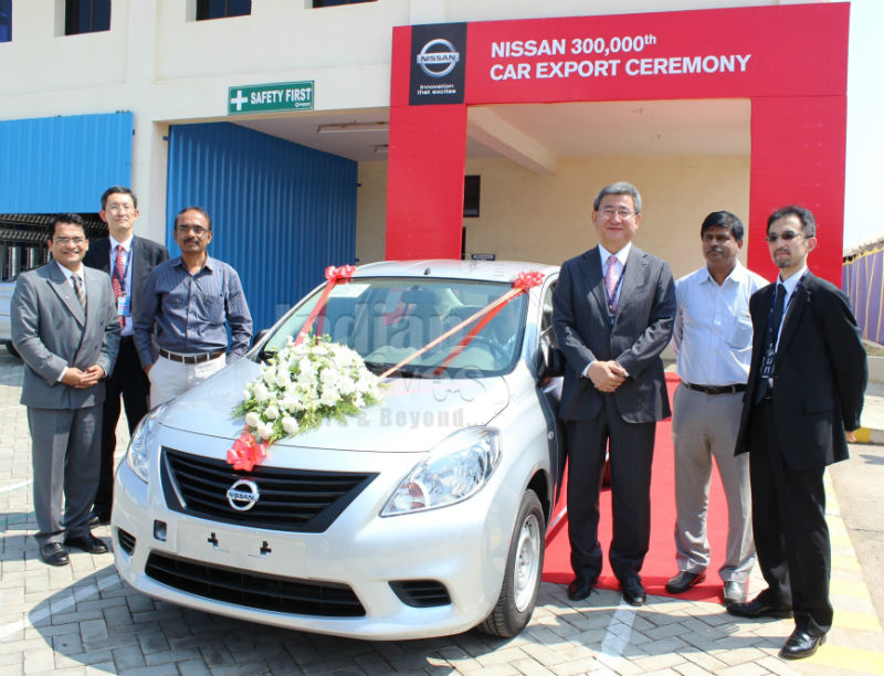 Nissan exports its 300000th car from India