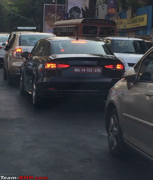Audi A3 sedan spotted testing in India