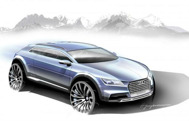 Audi Q1 crossover concept teased