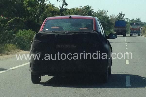 Hyundai Grand i10 Sedan Spied
