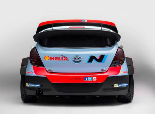 Hyundai i20 WRC Back View