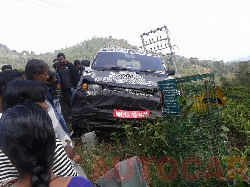 Mahindra Compact SUV S101 crashed in an accident