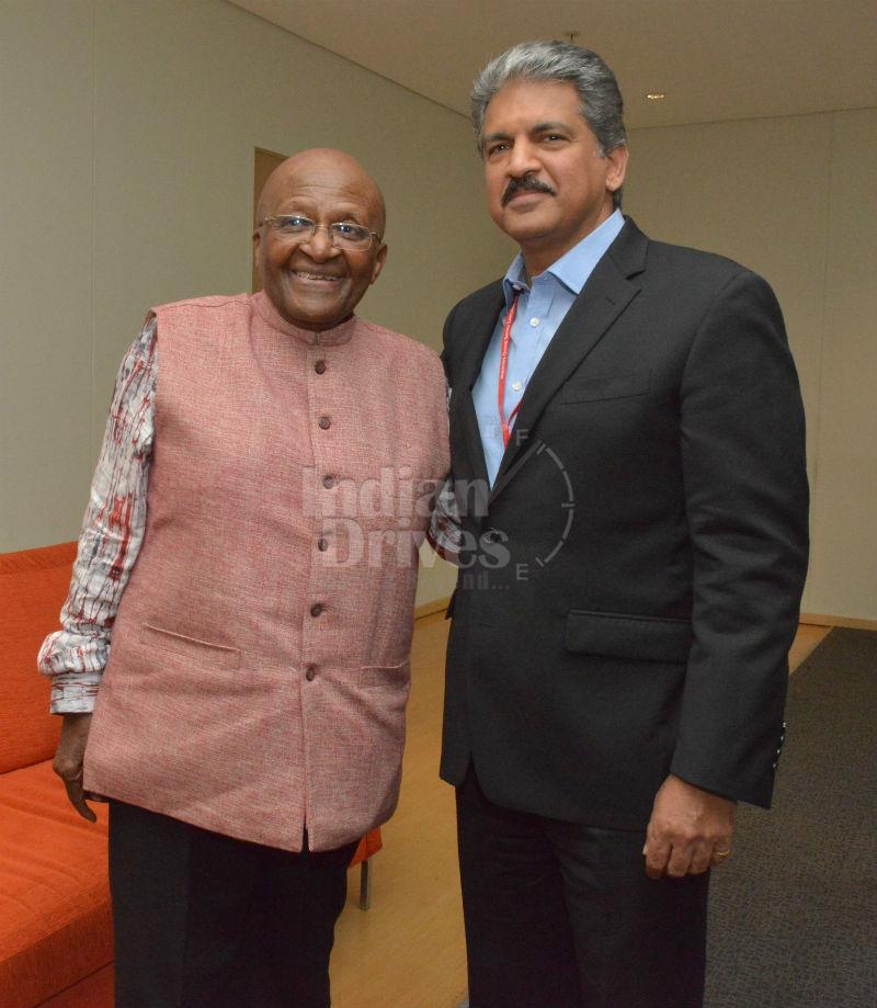 Archbishop Desmond Tutu and Mr. Anand Mahindra