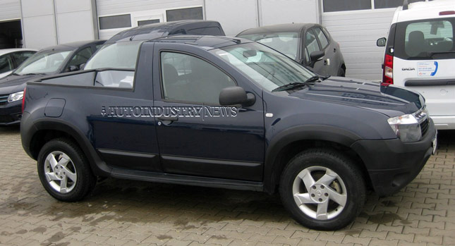 Renault Duster Pickup Truck Spied Testing