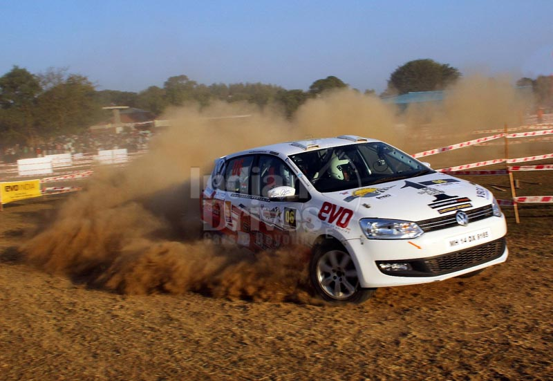 Sirish Chandran from Slideways driving a Volkswagen Rally Car finsihed 2nd in INRC 1600