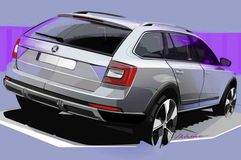 Skoda Octavia Scout Back View