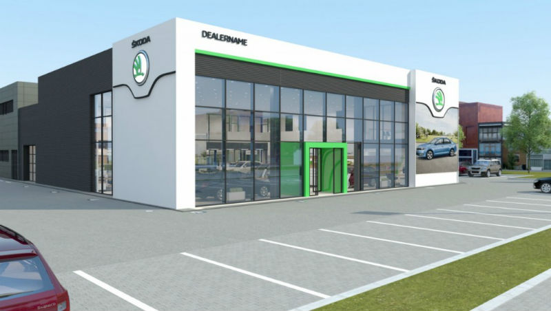 Skoda Showroom redesign Exterior