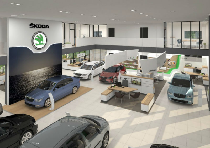Skoda Showroom redesign Interior