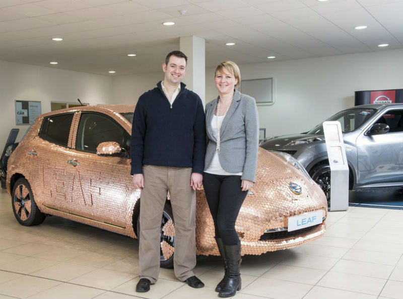 100000th Nissan Leaf gets Studded with Coins Sold in UK