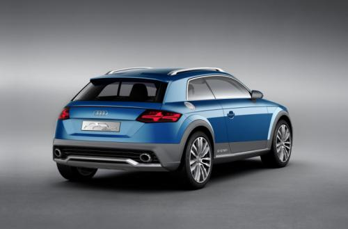 Audi Crossover Coupe Concept Back View