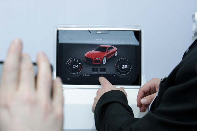 Audi Unveiled Android-based Tablet at CES 2014
