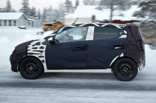 Chevrolet Spark spied