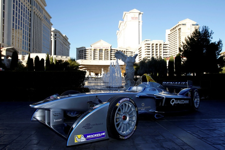 Formula E Race Car makes its First Public Appearance