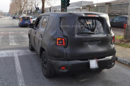 Jeep SUV Spied Testing Back View