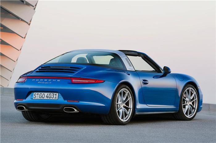 New Porsche 911 Targa Back View