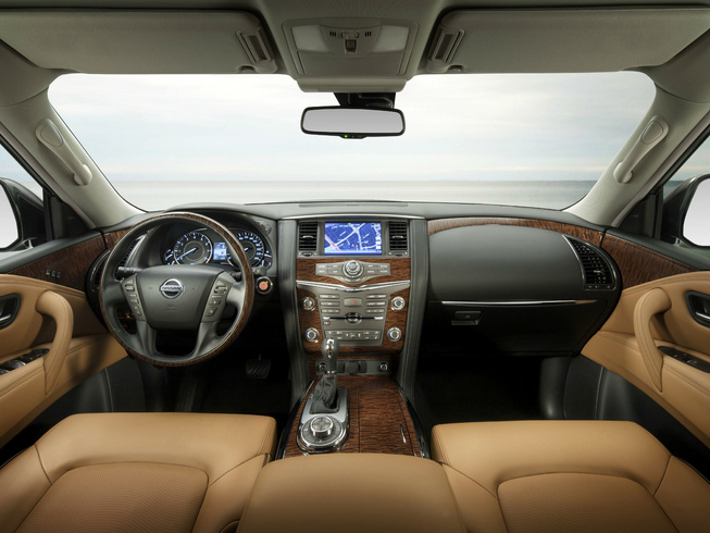 Nissan Patrol Facelift interiors